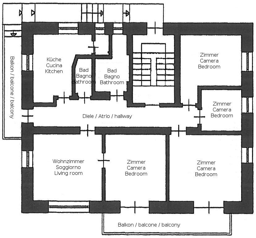 Appartamenti dotati di ogni comfort con parcheggio e for Casa con 5 camere da letto e 2 piani
